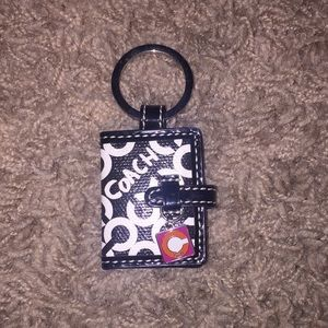 Authentic Coach keychain picture holder- Op art C